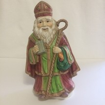 VTG Brinn's St. Patrick Musical Porcelain Figurine Silent Night Celtic C... - $13.80