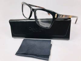 New Calvin Klein Collection CK8564 001 Black & Havana Eyeglasses 52mm with Case - $79.15