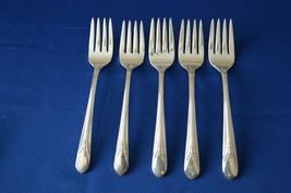 Wm Rogers MFG Co Inheritance 1941 Set of 5 Salad Forks - $22.28