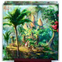 Thomas Kinkade The Jungle Book Prints 4 Piece Fused Glass Coaster Set w Holder image 3