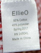 Ellie O Gingham Full Lined Longall Size 12 Months Color Red image 4