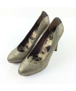 Sam Edelman Gold Silver Heel Shoes Upper Leather Women Size 6.5M - $33.51