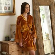 New Women's Velvet Robe Warm robe Bathrobe sale expedited shipping - £67.73 GBP