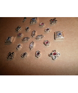 Metal Beads with Colorful Rhinestones - $1.00