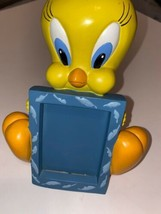 Rare Warner Bros Studio Store Looney Tunes Tweety Figurine Desk Photo Frame - $95.79