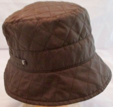 Betmar New York Womens Fleece Lined Quilted Bucket Hat Brown One Size - £19.02 GBP