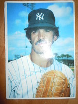 Vintage Large Topps Baseball Card Ron Guidry NY Yankees Signed 1980 - $2.99