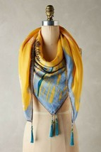 New Anthropologie Wildflower Tasseled Scarf by Duet $168 - $61.38