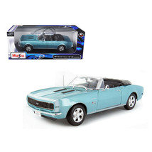 1967 Chevrolet Camaro SS 396 Convertible Turquoise 1/18 Diecast Model Ca... - $52.63