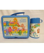 ORIGINAL Vintage 1983 Aladdin Care Bears Plastic Lunch Box + Thermos - $55.74