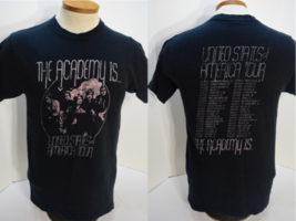 The Academy Is USA Tour T-Shirt Indie Alternative Rock Men's Size M Medium - $14.80