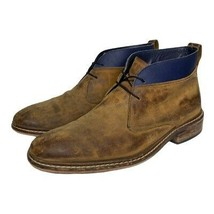 Cole Haan Mens Colton Ankle Chukka Boots Brown Blue Lace Up Almond Toe 8 M - $49.49