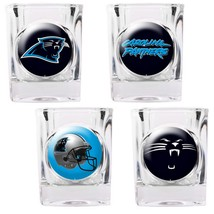 Carolina Panthers 4 Piece Collector's Shot Glass Set  - $35.66