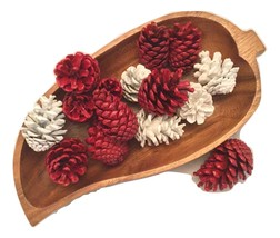 Painted Pinecones, wedding decor, home decor, crafts, one dozen - $8.00