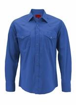 Men's Pearl Snap Button Western Slim Fit Stretch Cowboy Dress Shirt w/ Defect M image 1