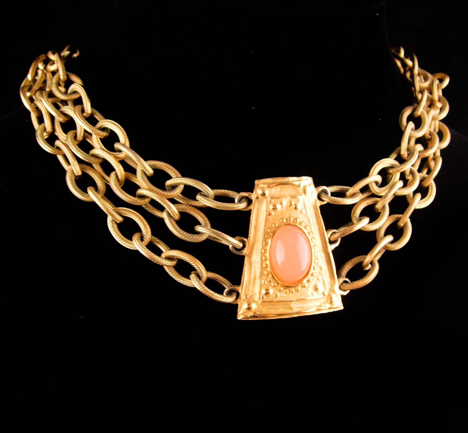 Vintage Givenchy necklace - signed Bijoux Couture Designer jewelry - designer