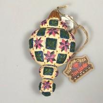 Jim Shore Christmas ornament Heartwood creek 2004 quilted look enesco - $24.91