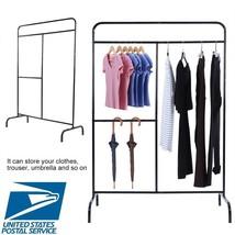 Portable Heavy Duty Clothes Garment Shelf Pipe Closet Organize Rack Free... - €98,38 EUR