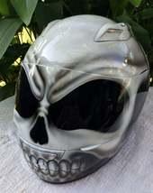 New Custom Airbrush Helmet Skull White Motive (Dot & Ece Certified) - $250.00