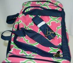 NGIL Hot Pink Lime Geometric Clover Print Canvas Duffle Bag image 3