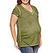 NEW!  a.n.a. ~ MATERNITY PLUS SIZE 1X ~  V-NECK T SHIRT TOP ~ $30 NWT - $16.95