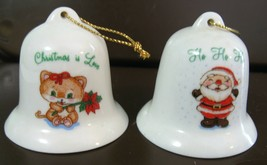Vintage Russ Berrie Christmas Ornaments set of two - $21.00