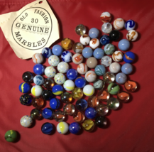 Lot Of Collectable Agate Glass Marbles West Virginia 1940s Swirls - $25.00