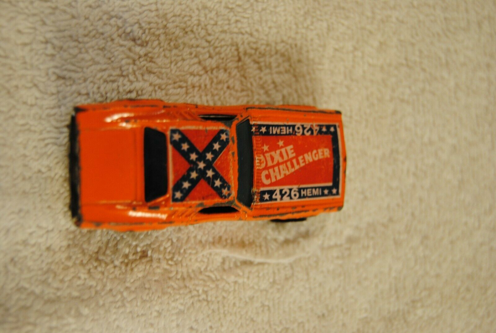 Vintage 1970 Hot Wheels Orange 426 Hemi Dixie Challenger  Hong Kong image 4