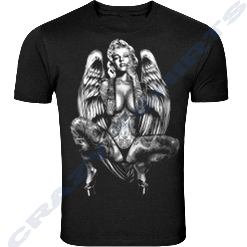 20c30191acfbfa Marilyn Monroe Wearing michael jordan  23 American flagT-shirt Adult Sizes  S-5XL