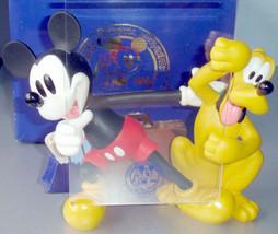 Disneyana Convention Mickey Mouse Pluto Figurine Photo Holder Love Laugh... - $198.90