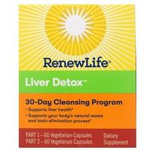Renew Life, Liver Detox, 30-Day Cleansing Program, 2 Bottles, 60 Vegetar... - $51.71