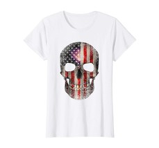 Halloween Shirts -  4th of July T-Shirt American Flag Skull USA Men Women Kids W - $19.95+