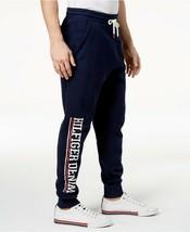 New Mens Tommy Hilfiger Logo Graphic Print Blue Joggers Sweat Pants S - $39.59