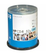New HP CD-R 80 Minute Recording 700MB 52x Speed 100 Disc Pack Blank Sealed - $24.99