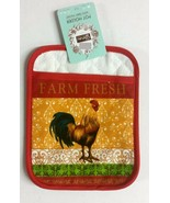 "Jumbo Printed Pot Holder w/ Terry Pocket (7"" x 9"") ROOSTER, FARM FRESH, ... - $7.91"