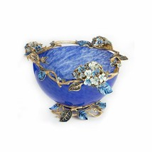 Jay Strongwater Sophie Hydrangea Glass Bowl SDH2307-284 - $2,663.10
