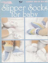 Slipper Socks For Baby Crochet Patterns Booties With Socks 8 Designs - $7.00