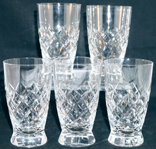 American Brilliant Cut Glass Juice Tumbler Marked with a T Set of 5 Tuth... - $49.99