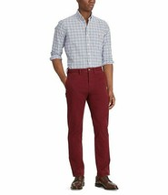 Ralph Lauren Mens Classic Stretch Fit Burgundy Red Twill Chino Pants NWT *f - $26.85