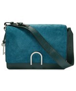 Fossil Finley Leather & Suede Shoulder Bag, Indian Teal $178 - $85.68