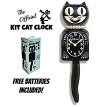 """CLASSIC LADY KIT CAT CLOCK 15.5"""" Black Kit-Cat Klock NEW Free Battery US... - $59.99"""