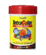 Tetra TetraColor Tropical Flakes Fish Food .42 ... - $2.06
