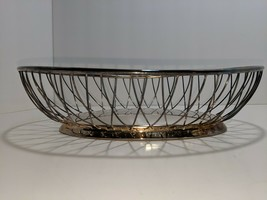 Vintage Gorham Silverplate Newport Wire Bread Basket Serving Bowl EUC - $29.69