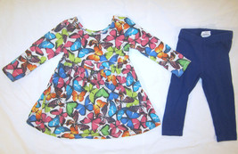 The Children's Place Butterfly Dress sz 12-18 months plus Blue Leggings - $10.00