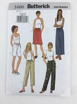Butterick Sewing Pattern Pants Shorts Skirt Uncut Waist 28-32 Hip 38-42 ... - $6.57