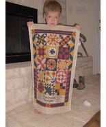 collectible patchwork sampler wall hanging - $5.00