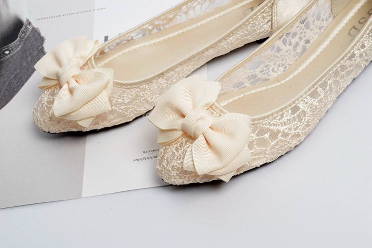 Champagne Lace up Shoes,Shoe lace styles,Lace Up Shoes/Flats,Lace Ballet Flats