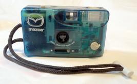 Mazda Branded Vivitar 35mm Point & Shoot Camera Transparent Blue Case Ra... - $39.99