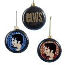 "Elvis Presley 3.5"" Flat Round Christmas Tree Ornament - Assorted Colors - $30.41"