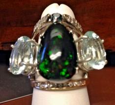 New Designer Huge Chistick 20ct Ethiopian Black welo opal, Diamond 14k g... - $9,999.00